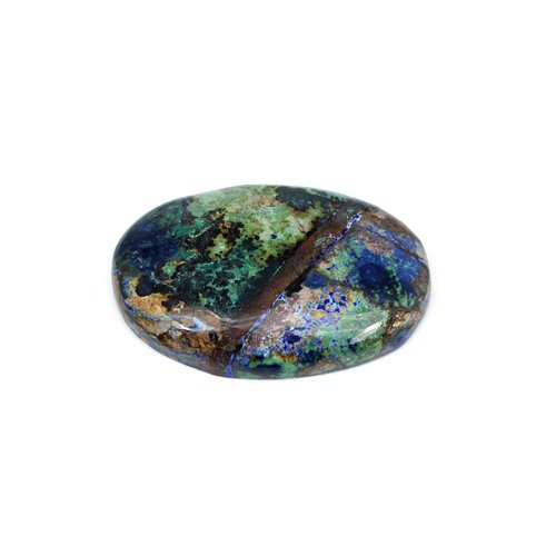 Trendy Collection Natural Chrysocolla 34x23mm Oval Cabochon 37 Cts Loose Gemstone