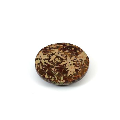 Trendy Collection Natural Mushroom Jasper 24x24mm Round Cabochon 25.90 Cts Loose Gemstone