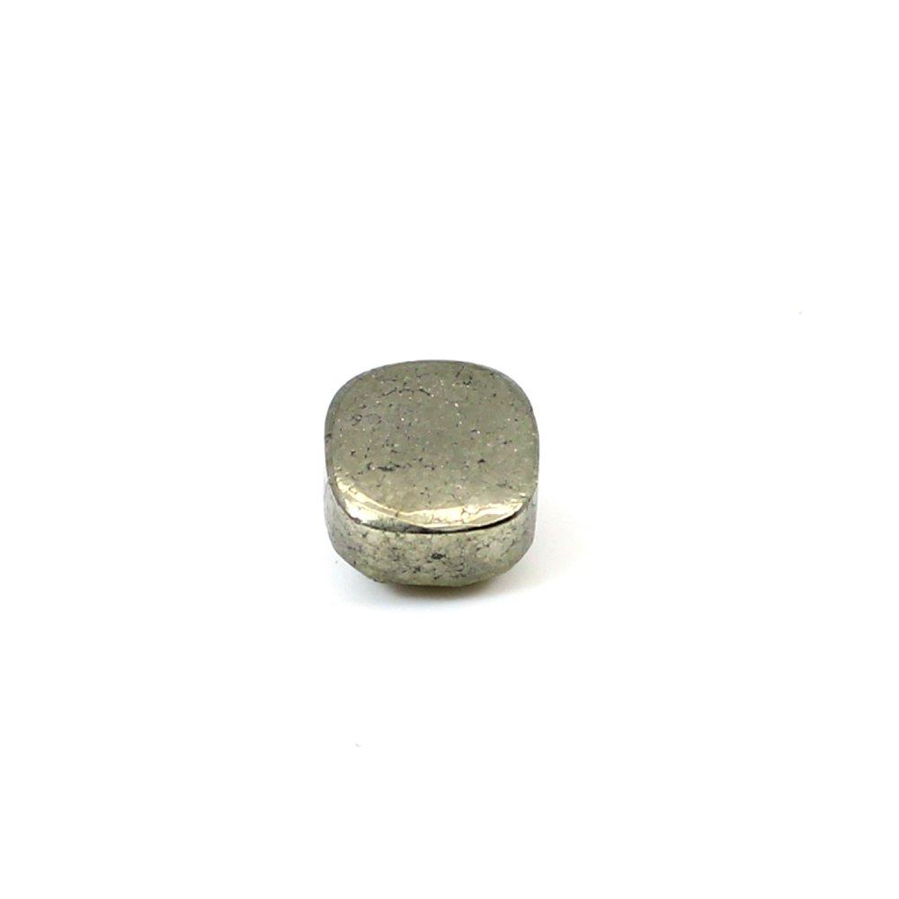 Trendy Natural Pyrite 7x7mm Cushion Rose Cut 4.4 Cts Loose Gemstone