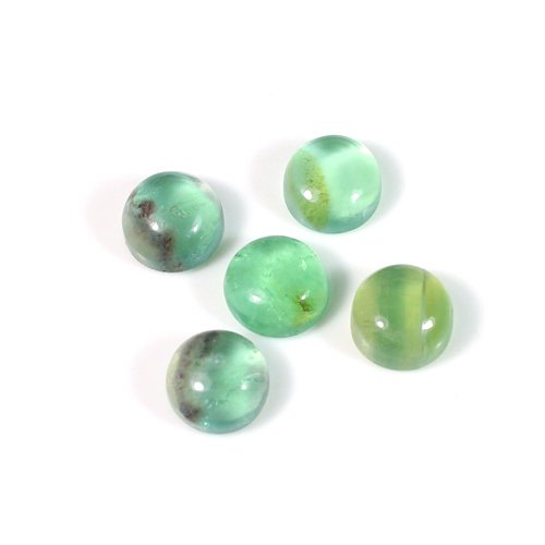 Trendy selling natural multi fluorite gemstone 7mm Round Cabochon 2.05 Cts Loose Gemstone