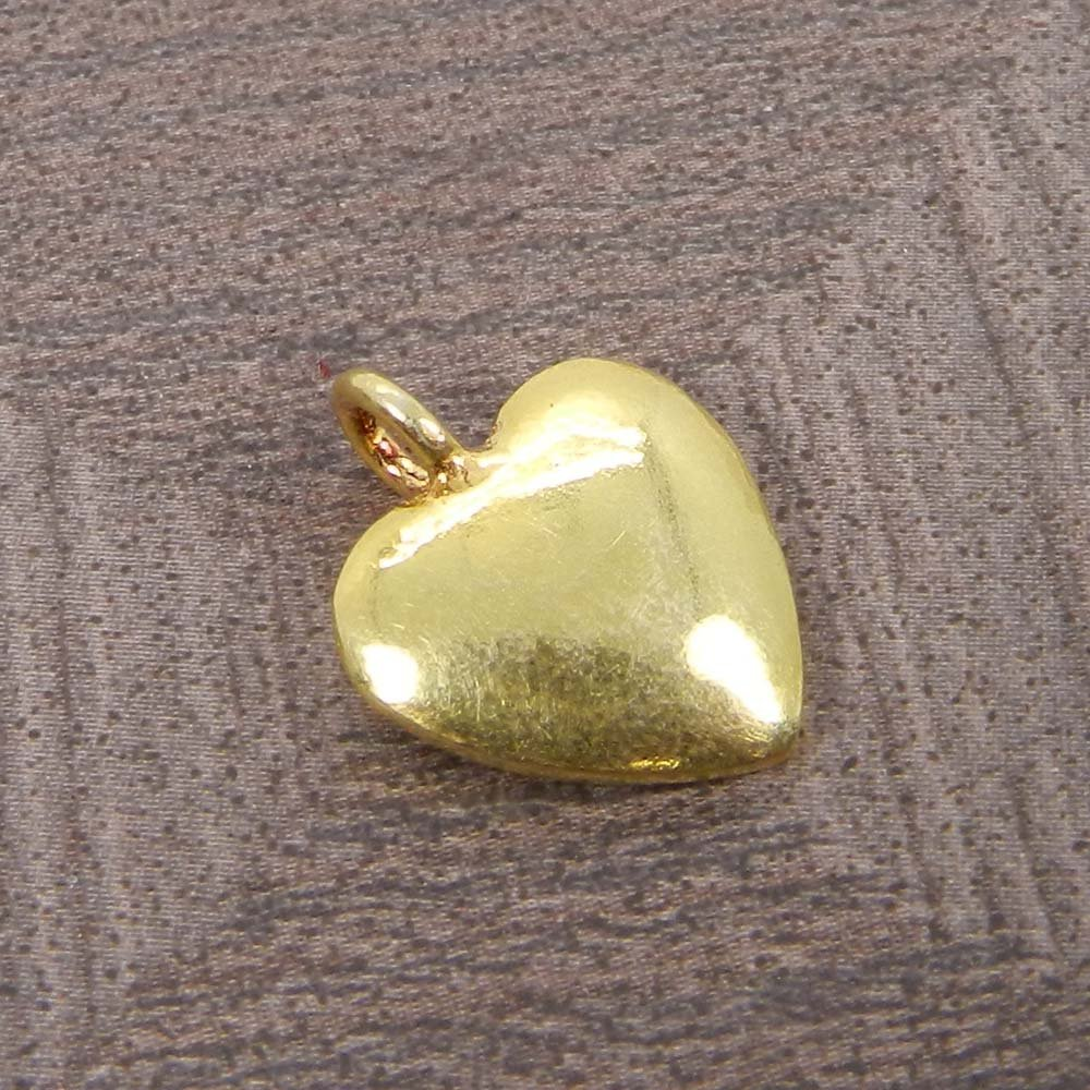 Valentines Jewelry Heart Design Silver Gold Plated Charm Pendant