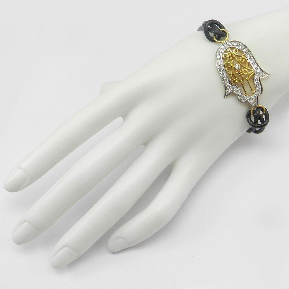 White Cubic Zircon 925 Sterling Silver Designer Bracelet