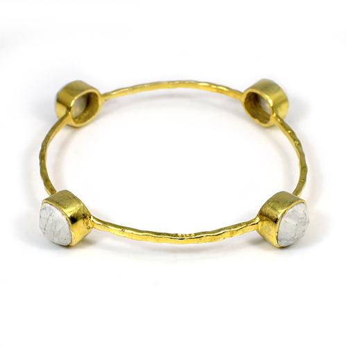Wholesale Collection Howlite Gemstone Bracelet Hammered Designer Bracelet Women Statement Thanksgiving Christmas Bracelet