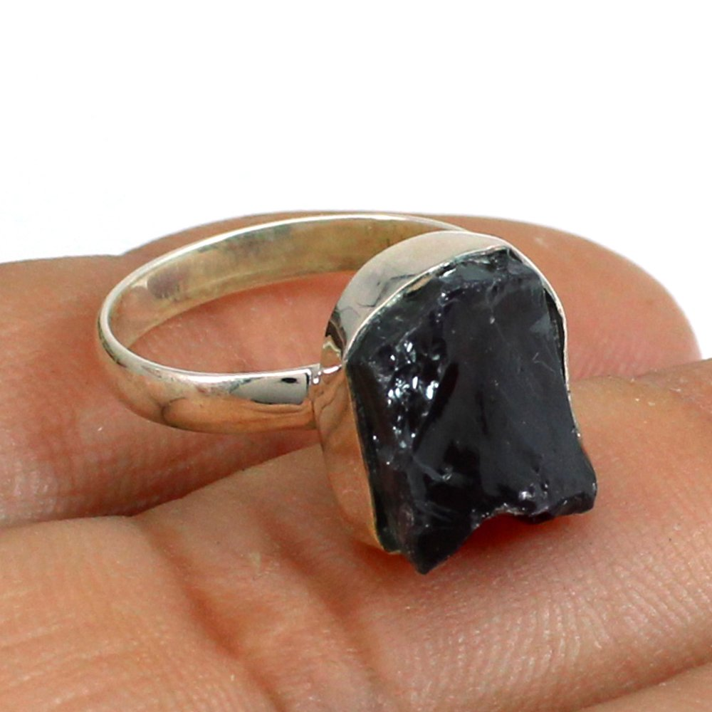 Wholesale Collection Natural Garnet Gemstone Ring Solid 925 Sterling Silver Ring Unisex Ring