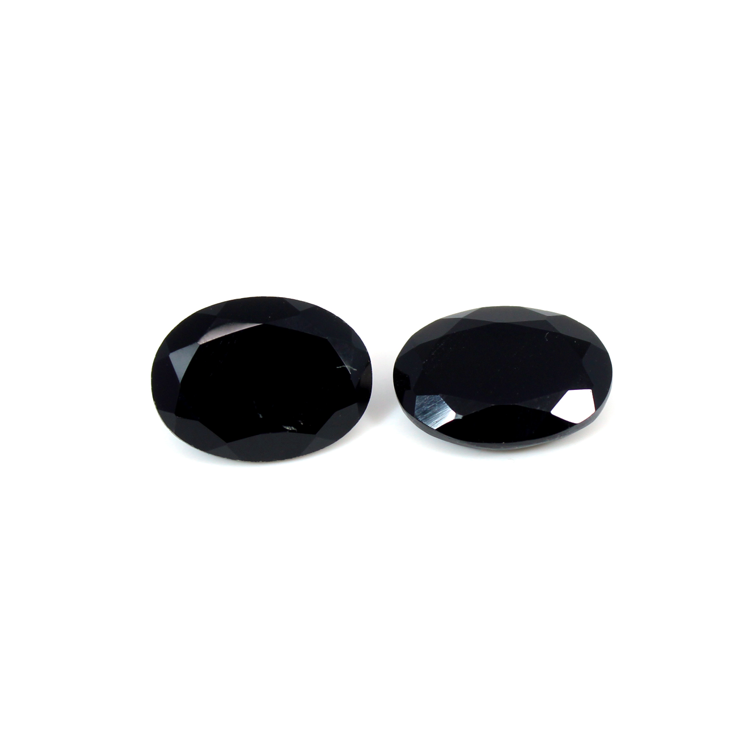 Wholesale Natural Black Onyx 16x12mm Oval Cut 13.8 Cts 1 Pair Loose Gemstone