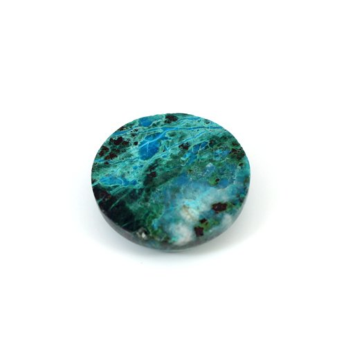 Wholesale Natural Chrysocolla 17.15 Cts Round Cabochon 19 mm Loose Gemstone