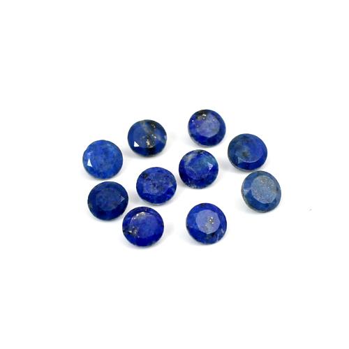 Wholesale Natural Lapis Lazuli 10 Pcs Lot 5x5mm 5.15 Cts Round Cut Loose Gemstone