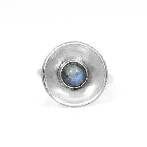 Wholesale Solid 925 Sterling Silver Ring Natural Blue Flashy Labradorite Gemstone Rings Dainty Rings Designer Band Rings