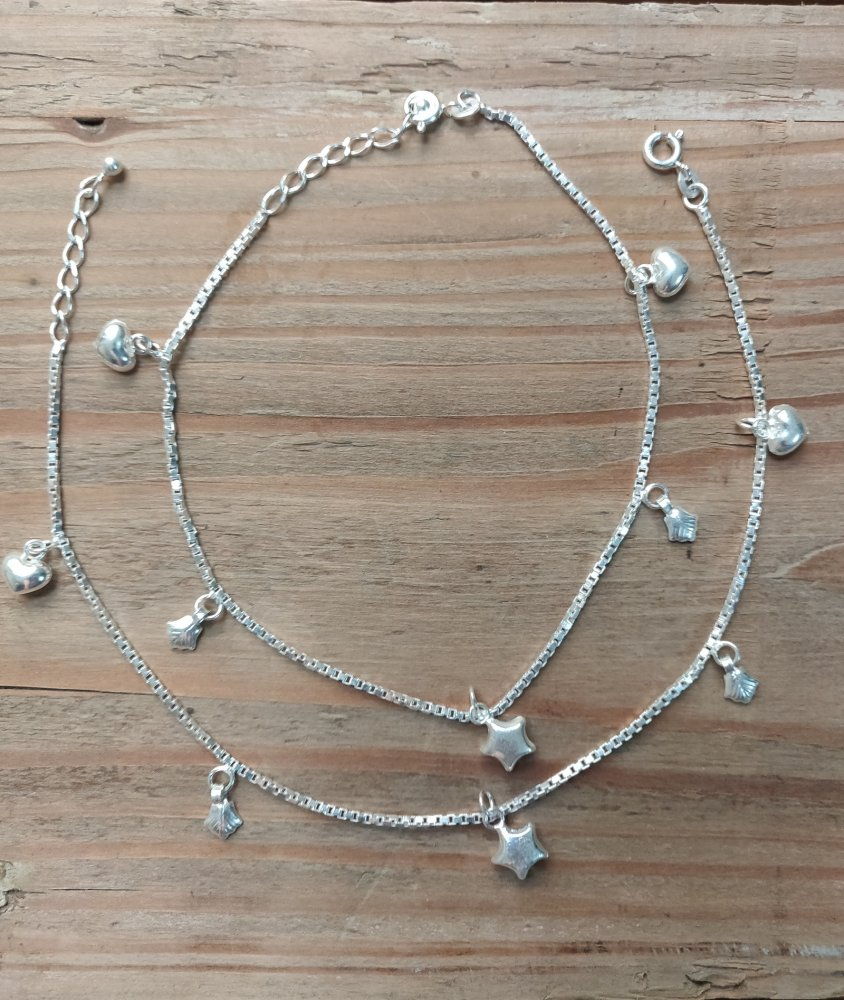 Anklets with Stars & Hearts