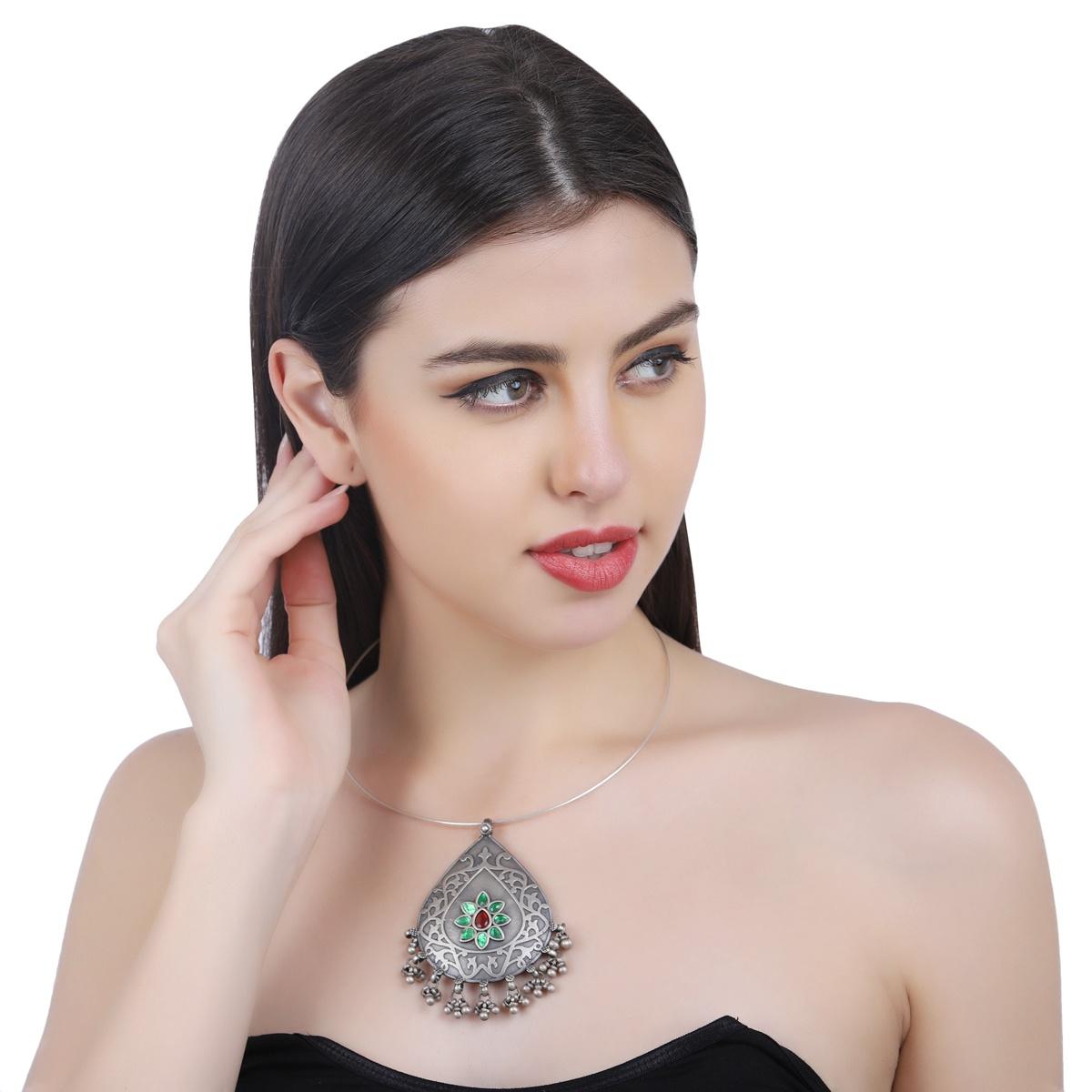 Drop Shaped Pendant Necklace