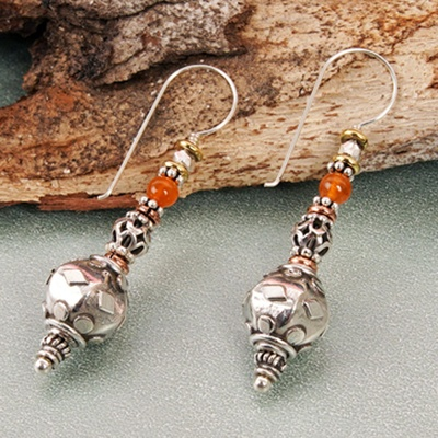 Embossed Silver Hooks