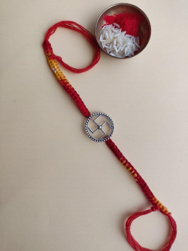 Handcrafted Silver Rakhi