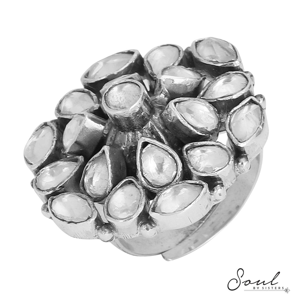 Large Kundan Adjustable Ring