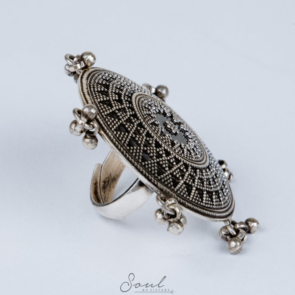Large Ring with Ghungroos