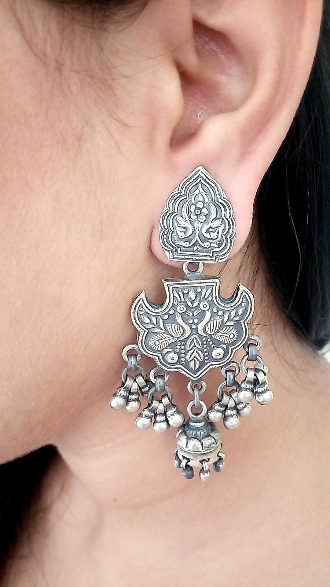 Mughal antique earrings