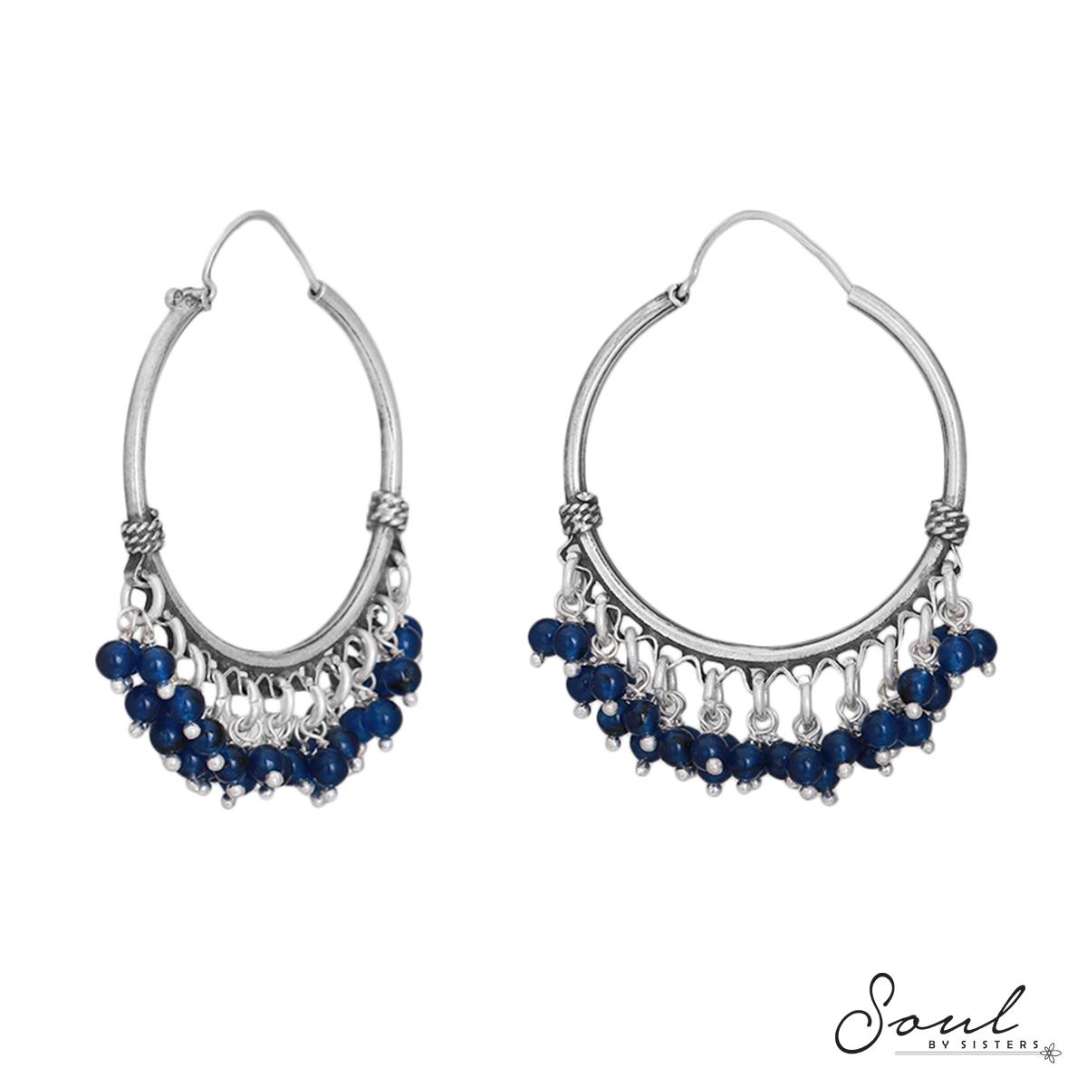 Sapphire Beads Silver Baalis