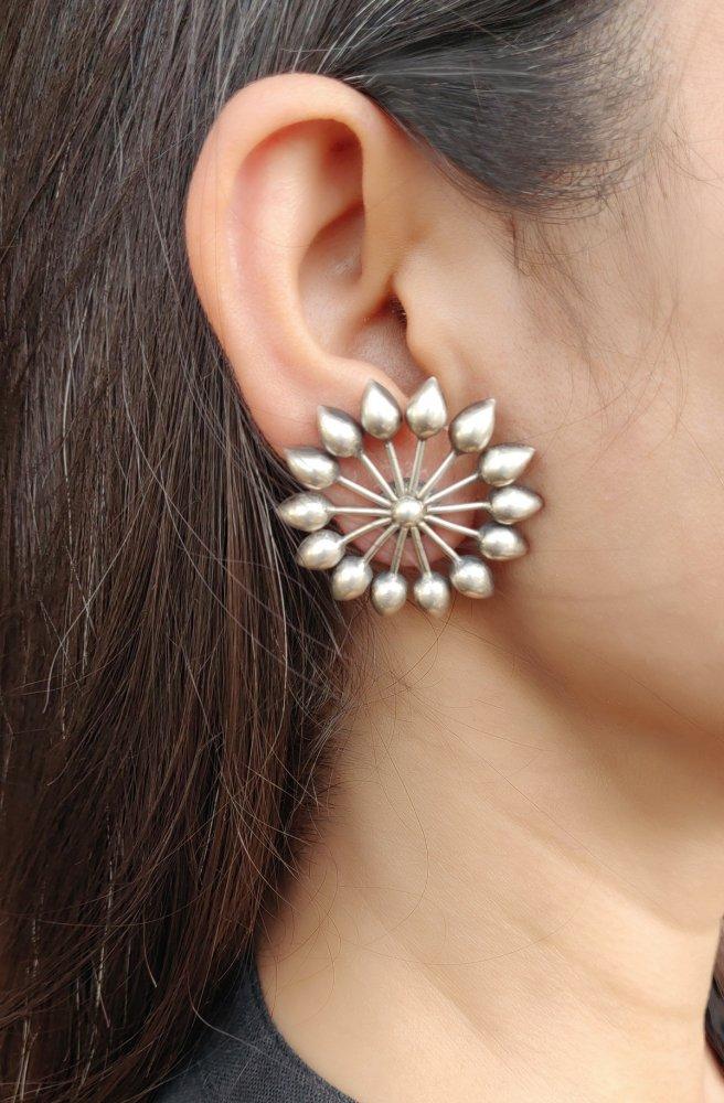 Silver Chakra Earrings