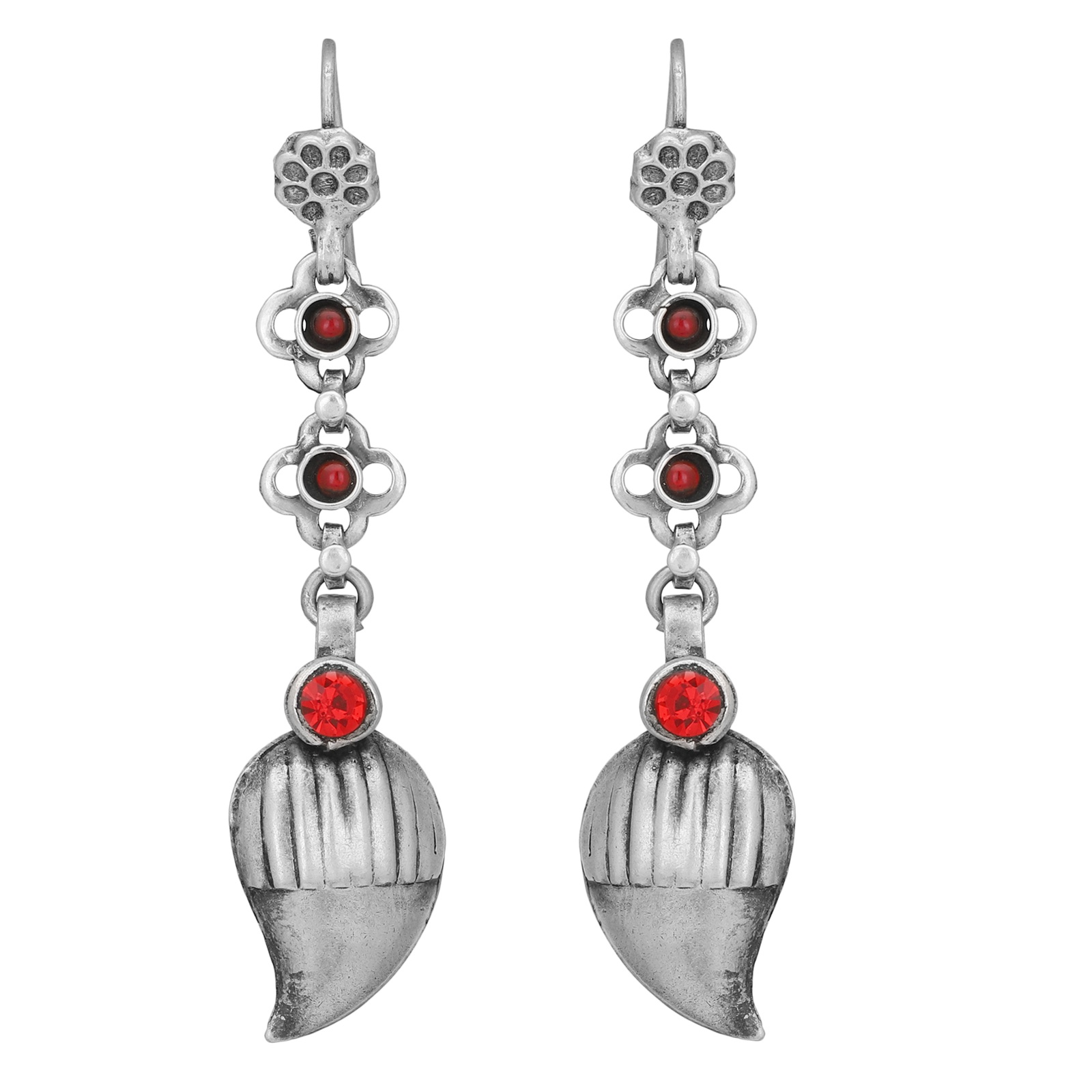 Silver Danglers with Ambi Drop