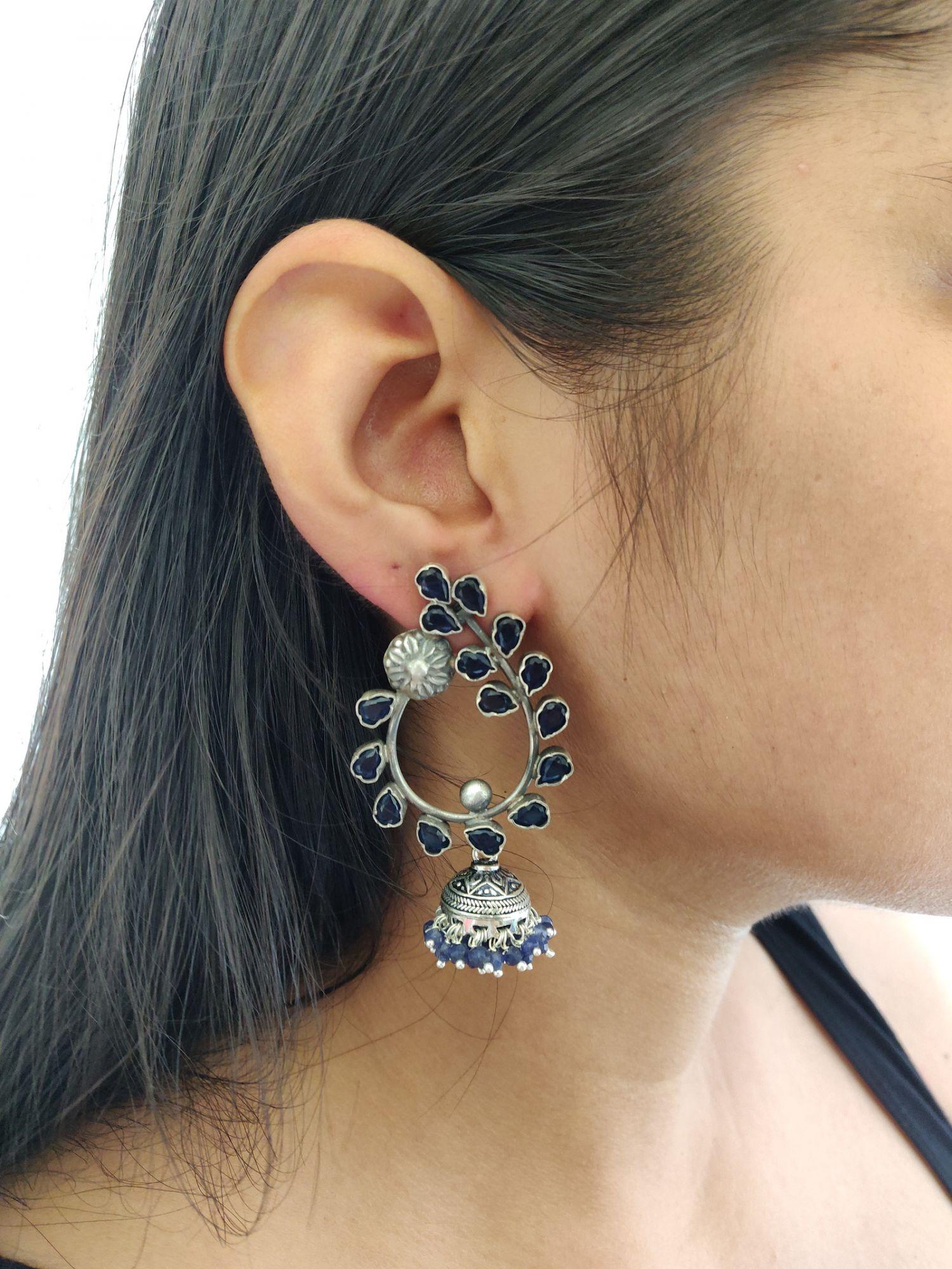 Statement Blue Earrings