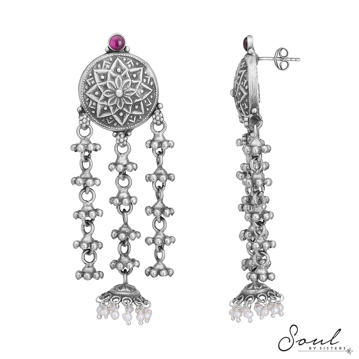 Temple Studs with Hangings
