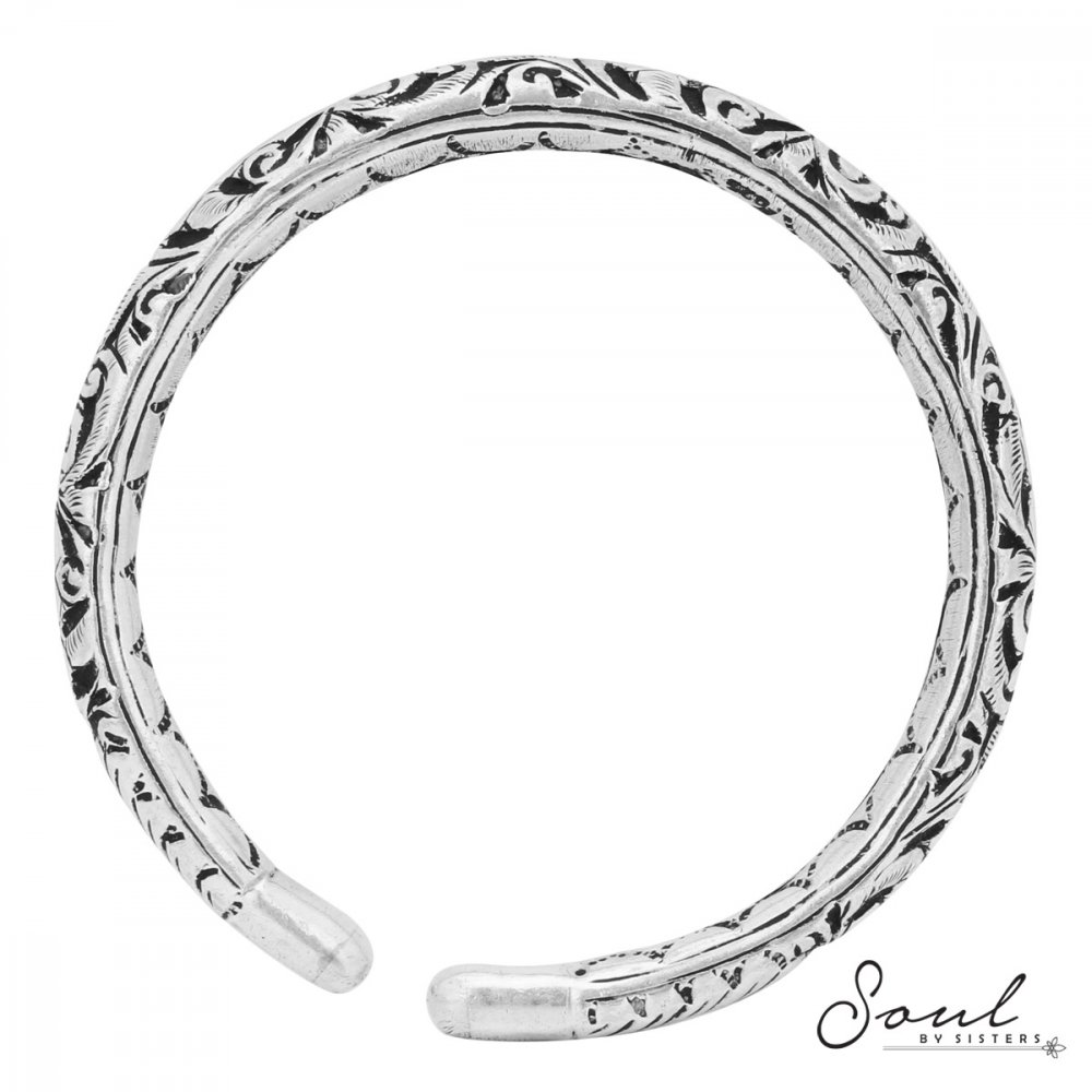 Tribal Bangle with Floral Motif