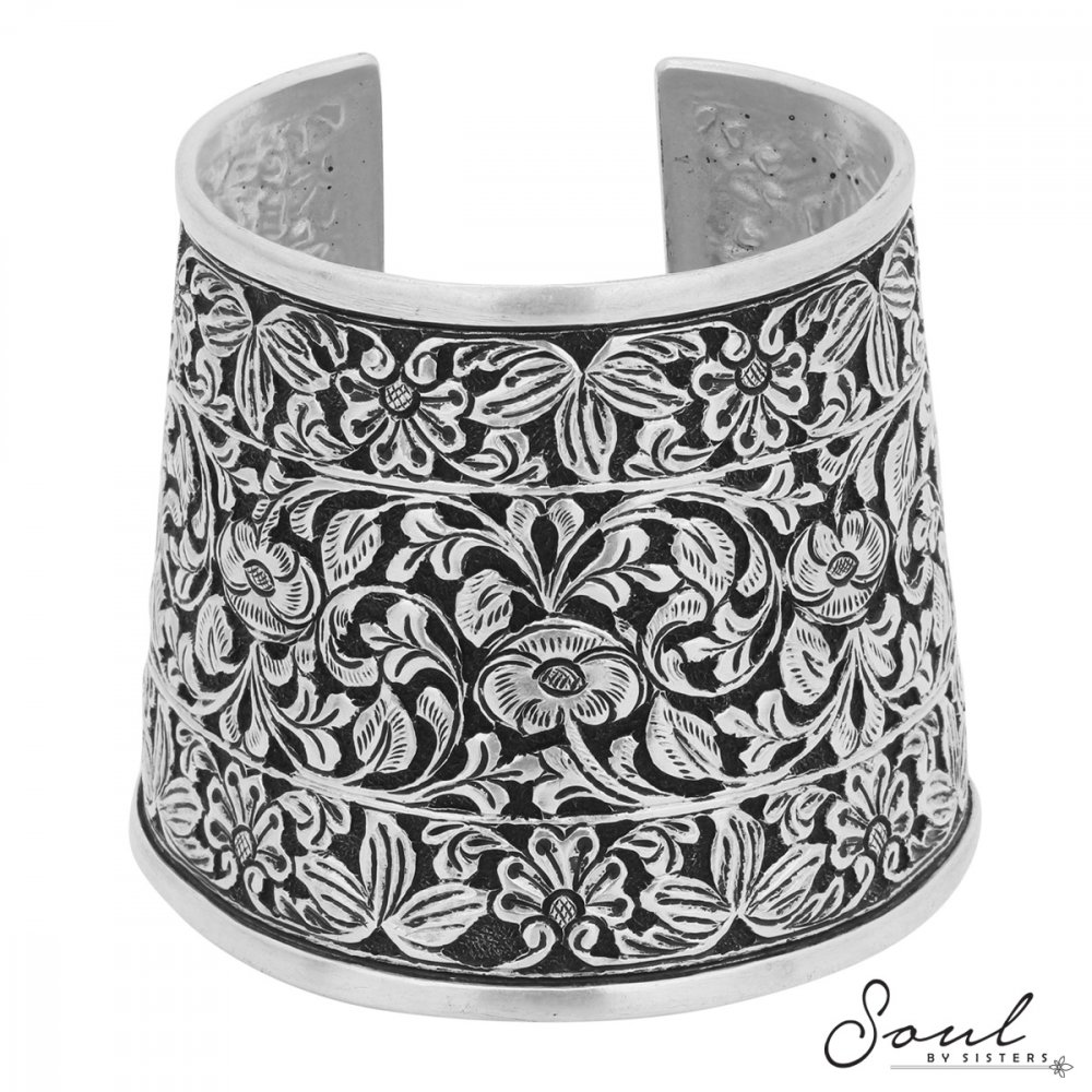 Tribal Cuff with Floral Motif
