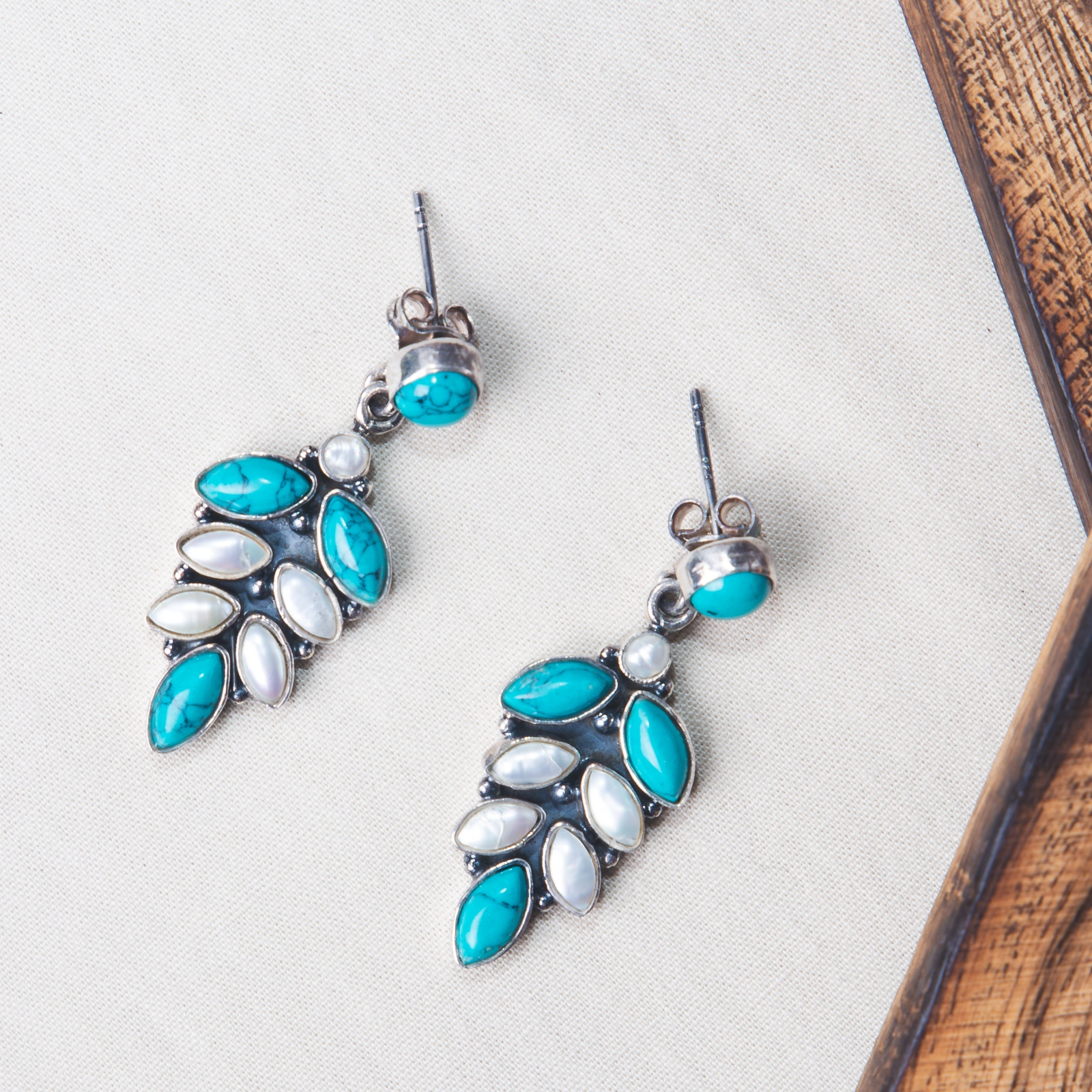 Turquoise Silver Danglers