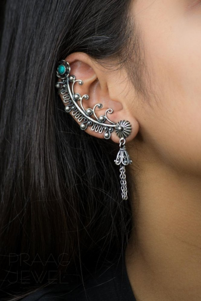 Turquoise Tribal Ear Cuffs