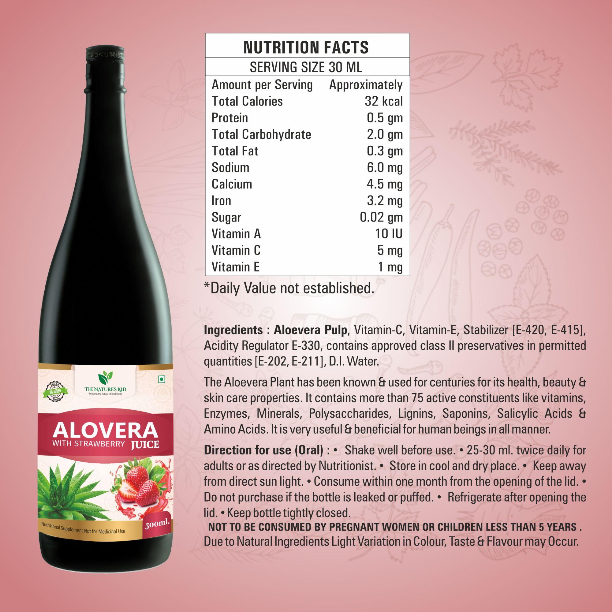 Aloe Vera Strawberry Drink