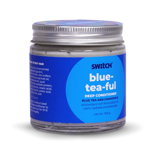 Calming Blue-tea-ful Deep Conditioner for Normal to Oily Hair - 100g