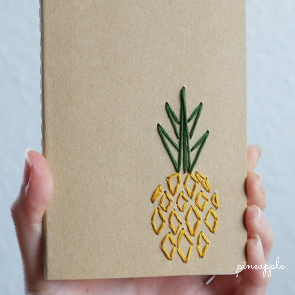 Quirky Hand Embroidered Diary