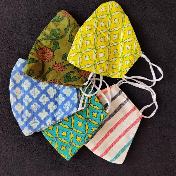 Reusable Cotton Masks Set of 4